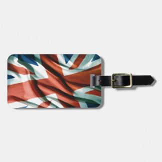 British Flag Pop Art Bag Tag