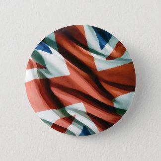 British Flag Pop Art Pinback Button