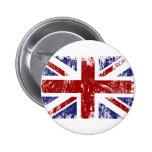 British Flag Punk Grunge Button