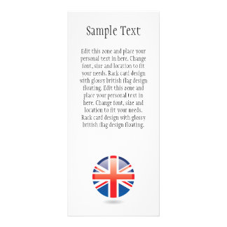 British Flag Rack Card