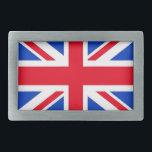 "British Flag Rectangular Belt Buckle<br><div class=""desc"">British flag belt buckle</div>"