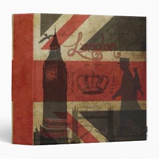 British Flag, Red Bus, Big Ben & Authors Binder