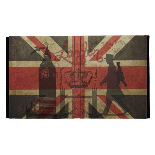 British Flag, Red Bus, Big Ben & Authors iPad Folio Covers