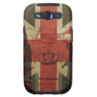 British Flag, Red Bus, Big Ben & Authors Galaxy S3 Cases