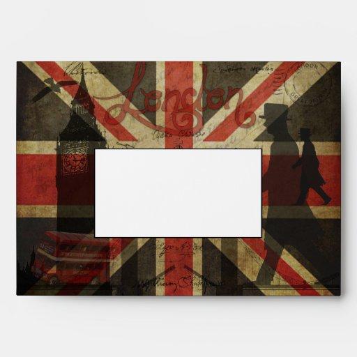 British Flag, Red Bus, Big Ben & Authors Envelope