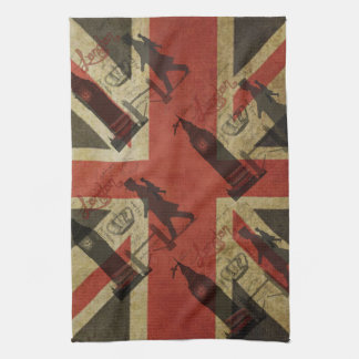 British Flag, Red Bus, Big Ben & Authors Hand Towel