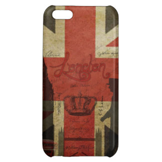 British Flag, Red Bus, Big Ben & Authors iPhone 5C Cover
