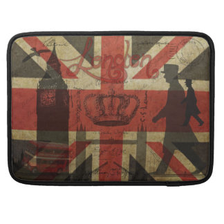 British Flag, Red Bus, Big Ben & Authors Sleeves For MacBooks
