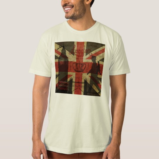 British Flag, Red Bus, Big Ben & Authors T-Shirt