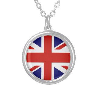 British flag round pendant necklace