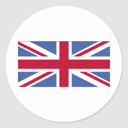 BRITISH FLAG ROUND STICKERS