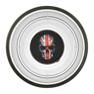 British Flag Skull on Black Pet Bowl