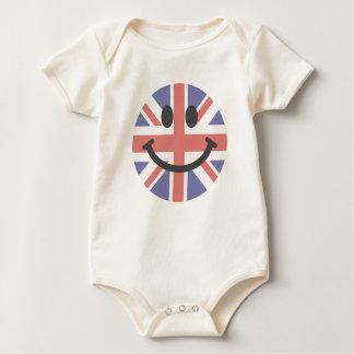 British Flag Smiley face Bodysuit