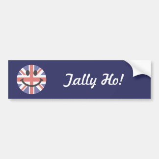British Flag Smiley face Bumper Sticker