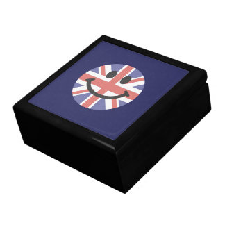 British Flag Smiley face Jewelry Boxes