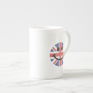 British Flag Smiley face Tea Cup