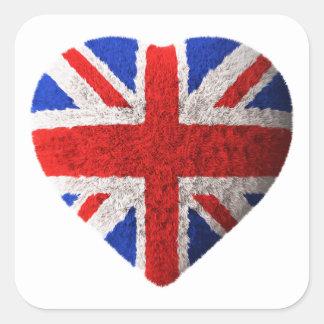 British flag square sticker