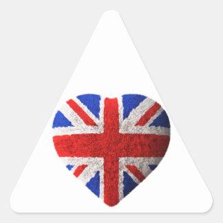 British flag triangle sticker