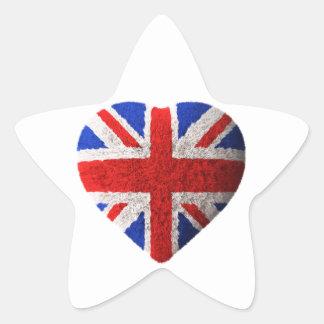 British flag star sticker