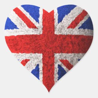 British flag heart sticker