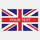 British flag stickers | personalizable union jack