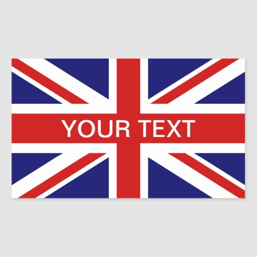 British flag stickers   personalizable union jack