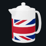 "British flag teapot<br><div class=""desc"">Teapot with flag of The United Kingdom of Great Britain and Northern Ireland (Union Jack)</div>"