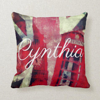 British Flag Telephone Booth Pillow