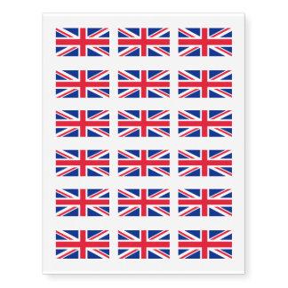 British flag temporary tattoos