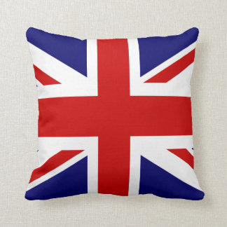 British flag throw pillow | Union Jack design