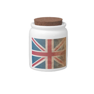 British Flag, (UK, Great Britain or England) Candy Jars