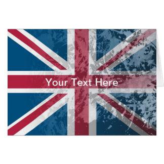 British Flag, (UK, Great Britain or England) Card