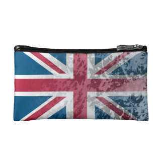 British Flag, (UK, Great Britain or England) Makeup Bag