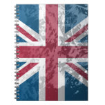British Flag, (UK, Great Britain or England) Spiral Note Books