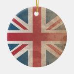 British Flag, (UK, Great Britain or England) Christmas Ornaments