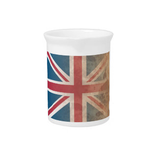 British Flag, (UK, Great Britain or England) Beverage Pitcher