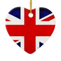 British Flag Union Jack Ceramic Ornament