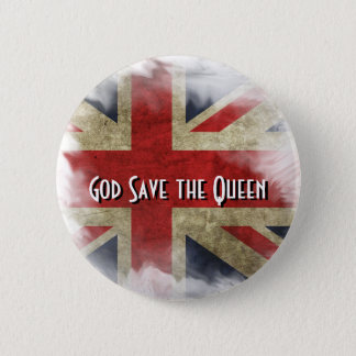 British Flag Union Jack. God Save the Queen Button