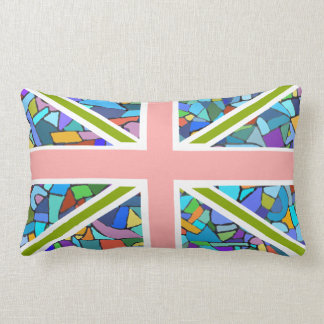 British Flag Union Jack inspired by Gaudi Mosaic Pillows
