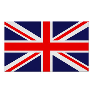 British Flag Union Jack Poster Print