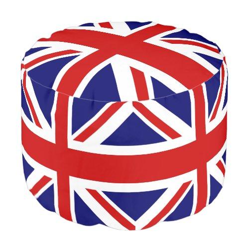 British flag Union Jack Pouf