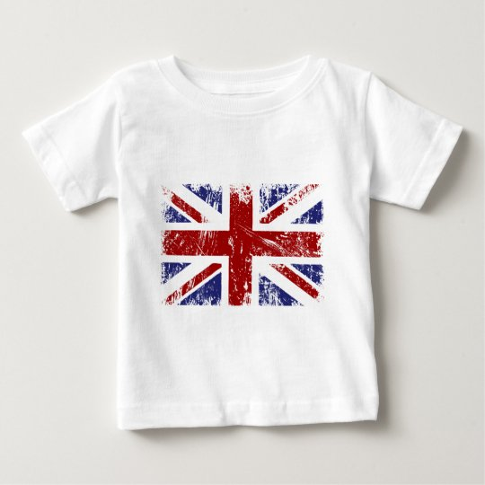 British Flag Union Jack Punk Grunge Baby T-Shirt