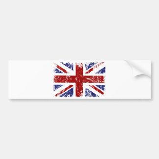 British Flag Union Jack Punk Grunge Bumper Sticker