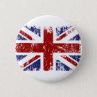 British Flag Union Jack Punk Grunge Pinback Button