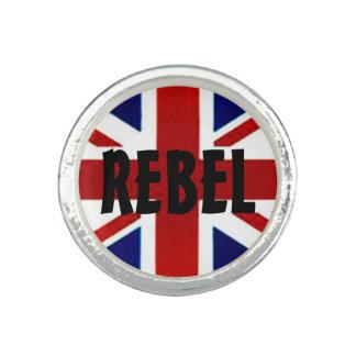 British Flag/Union Jack REBEL Round Ring