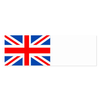 British flag, various gifts business card