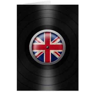 British Flag Vinyl Record Album Graphic Greeting Cards