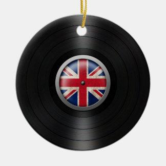 British Flag Vinyl Record Album Graphic Ceramic Ornament