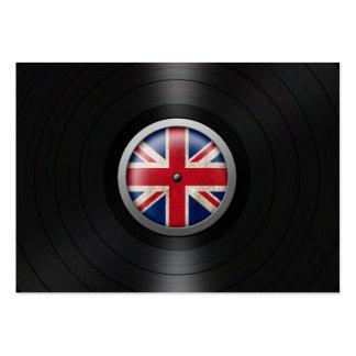 British Flag Vinyl Record Album Graphic Large Business Card