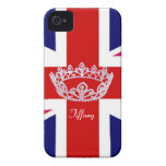 British Flag with Crown iPhone 4 Case